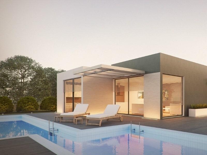 Extension d une maison avec piscine par un courtier en travaux homy conseil