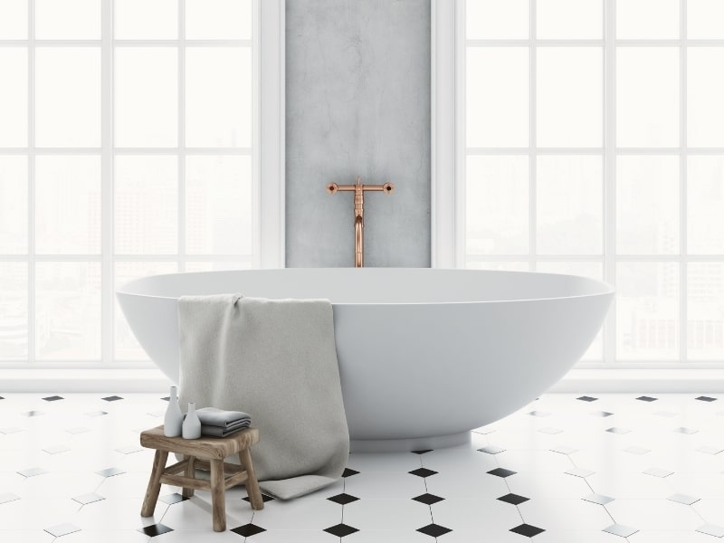 Renovation d une salle de bain par un courtier homy conseil