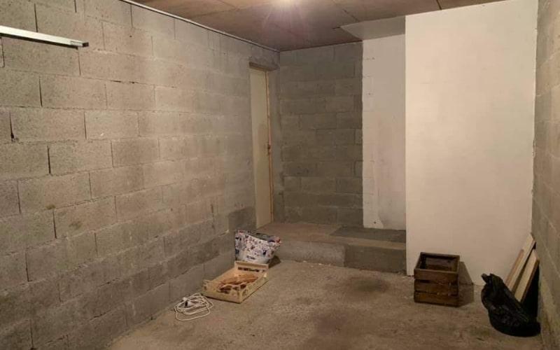 avant travaux remplacement garage
