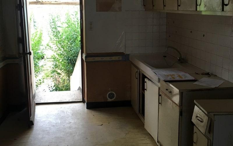 cuisine avant travaux de renovation